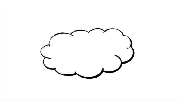 free cloud shape template word download
