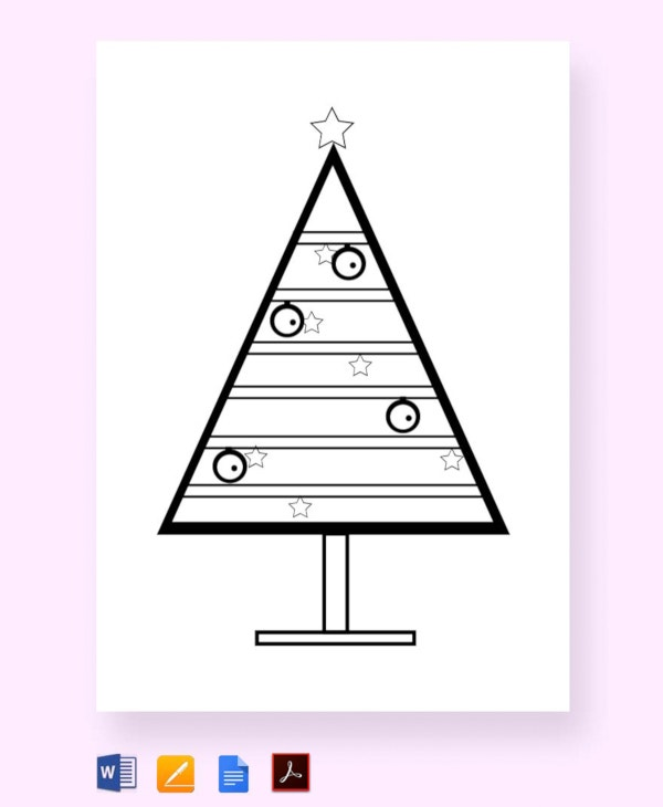 free-coloring-christmas-tree-template