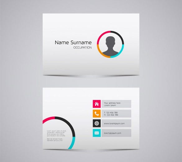 name card templates 18 free printable word pdf psd eps format