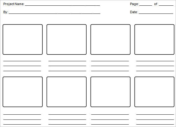 free editable education storyboard template word