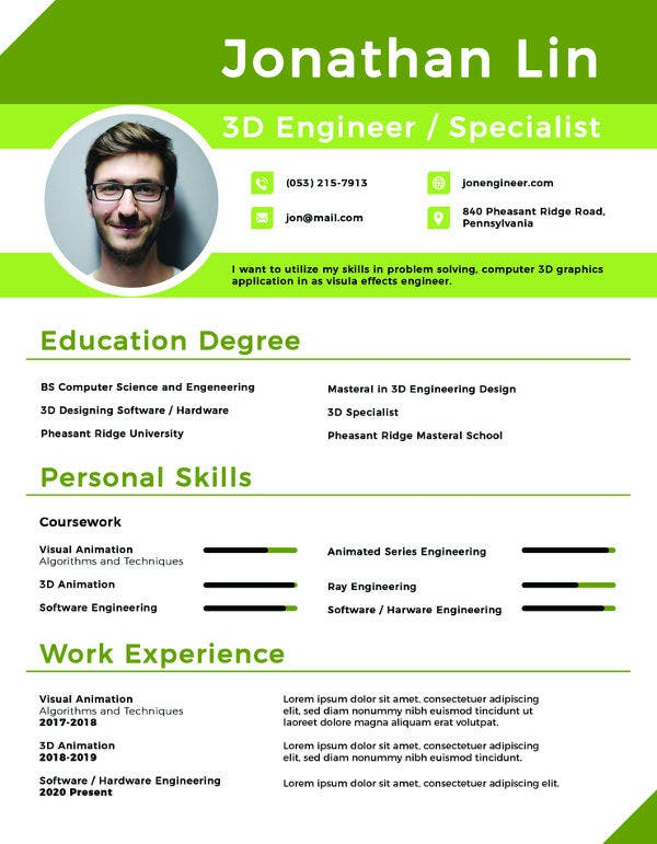 Resume Template for Fresher - 15+ Free Word, Excel, PDF ...