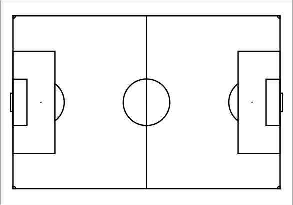 image regarding Free Printable Football Templates known as 9+ Printable Soccer Templates Absolutely free Quality Templates