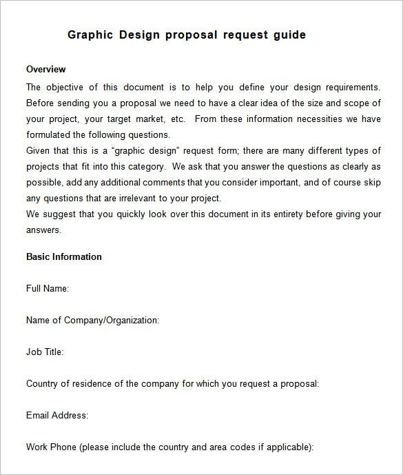 free graphic design proposal word download