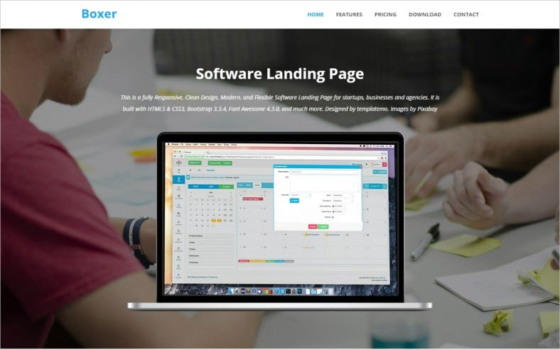 Free HTML5 Software Landing Page Template