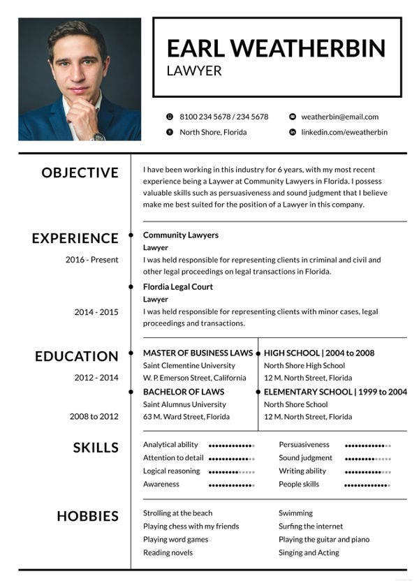 free-lawyer-resume-template
