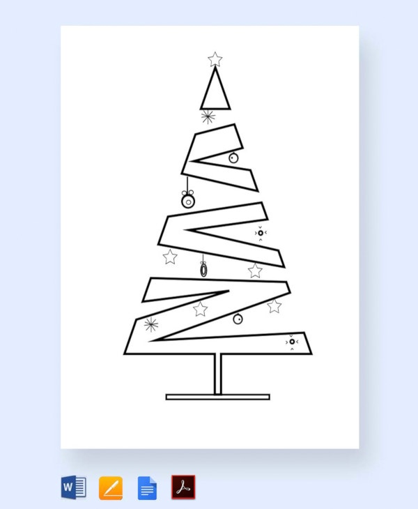 free layered christmas tree template1