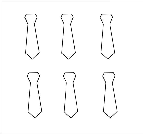 free mens tie template download