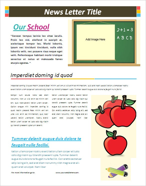Captivating Free Middle School Newsletter Template Microsoft Word Ideas Free School Newsletter Templates For Word