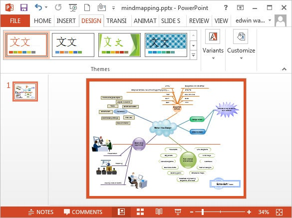 Microsoft powerpoint template 30 free ppt jpg psd documents free mind map powerpoint template download toneelgroepblik Gallery