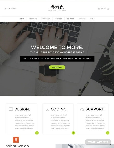 free multipurpose html5 css3 website template