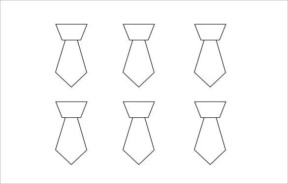 free neck tie template word download