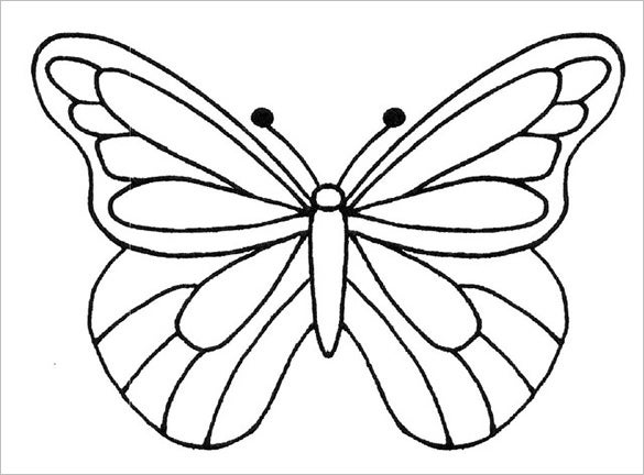 free paper butterfly template large - Butterfly Template Free