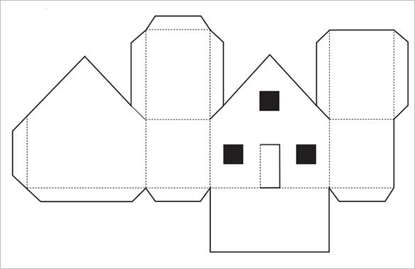 Ambitious image with house template printable