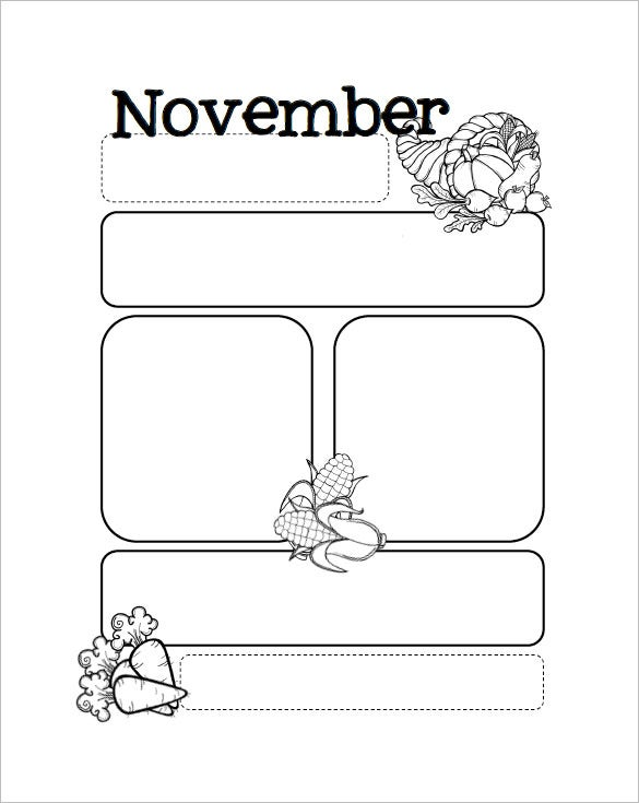 Printable Preschool Newsletter Templates  Free Word Pdf Format