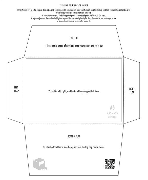 free printable 425 x 625 envelope template design