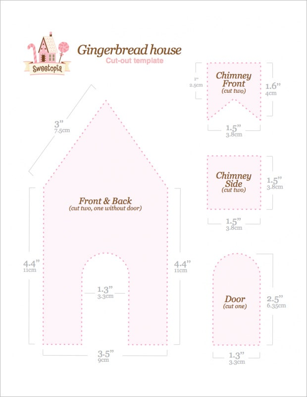 life size gingerbread house template  7+ Gingerbread House Templates | Free & Premium Templates