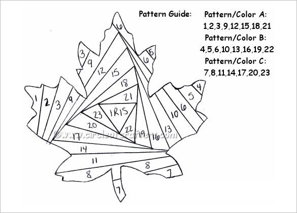 free printable iris folding pattern template