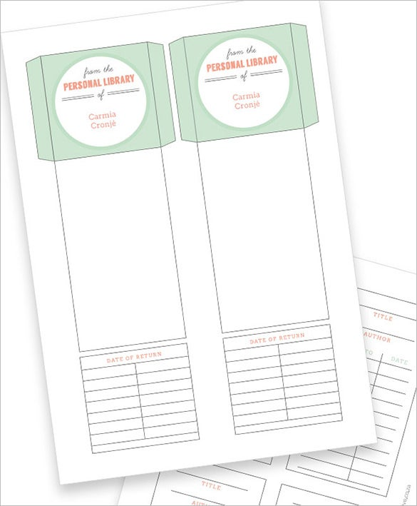 Library Card Template   Free Printable Word Pdf Psd Eps