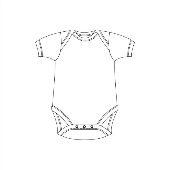 free printable onesie template