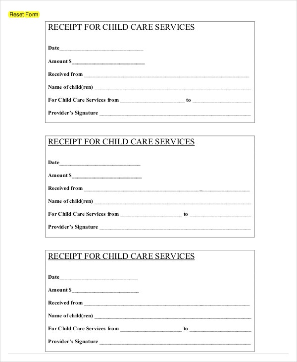 free printable receipts