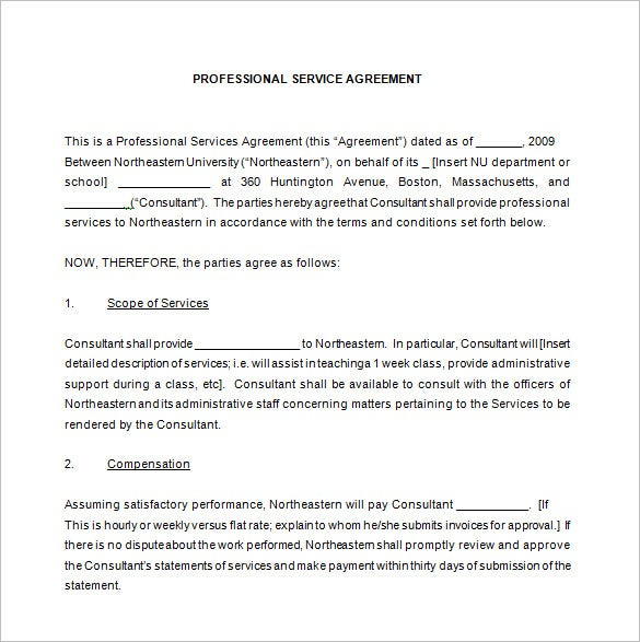 10 Maintenance Contract Templates Free Word PDF Documents – Free Service Agreement Template