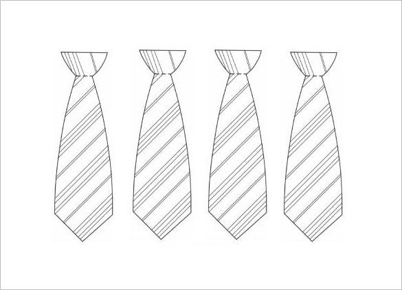 free tie template download