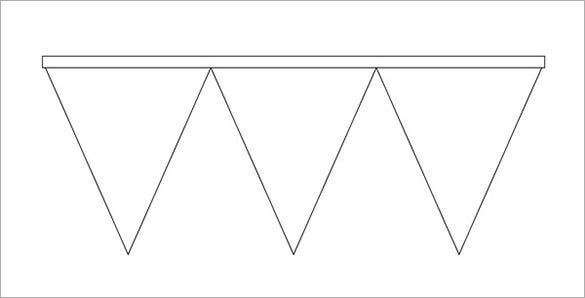 free triangle pennant banner template download