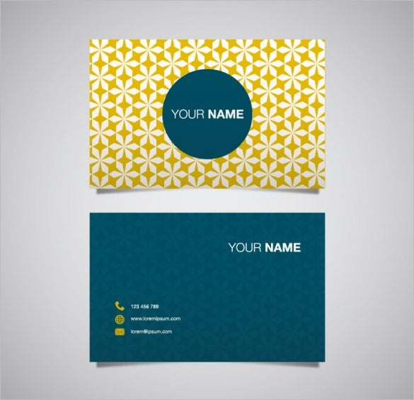 free vector name card template download