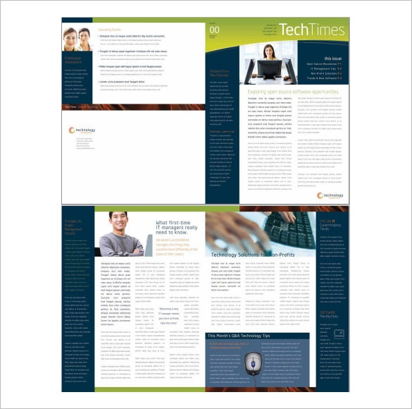 Perfect Free Word Business Newsletter Template. Download  Business Newsletter Templates Free Download