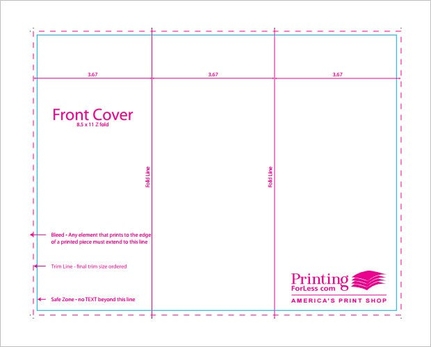 Printable TriFold Templates Free Word PSD PDF EPS - Free tri fold brochure templates download