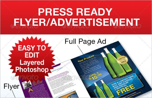 full page advertisement flyer psd