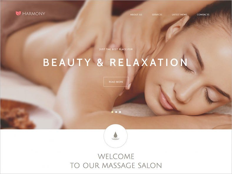 Full Screen Slider Joomla Theme for Massage