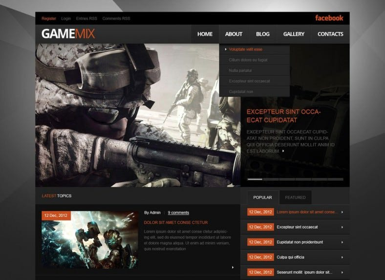 Fully Responsive Game Portal WordPress Theme