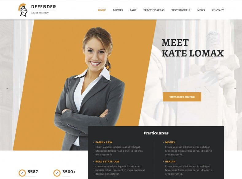 Fully Responsive Lawyer WordPress Theme