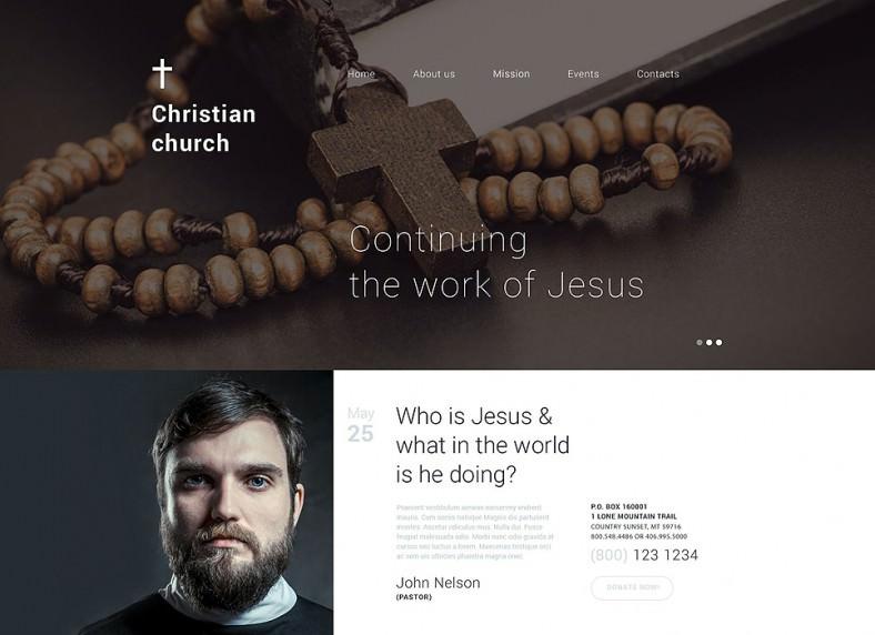 Fully Responsive New Drupal Template for Christian Shelter