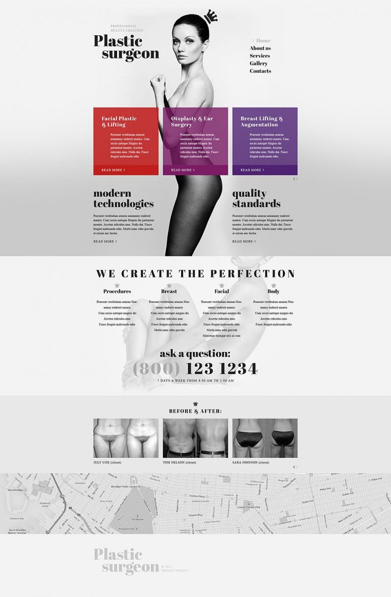 Fully Responsive Plastic Surgery Website Template