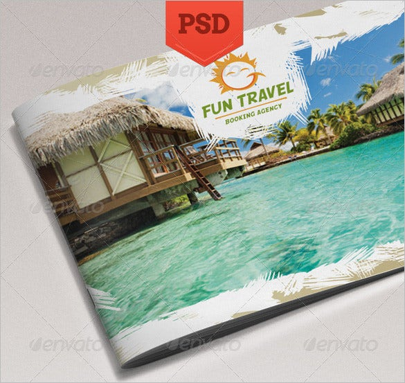 fun travel brochure beautiful design