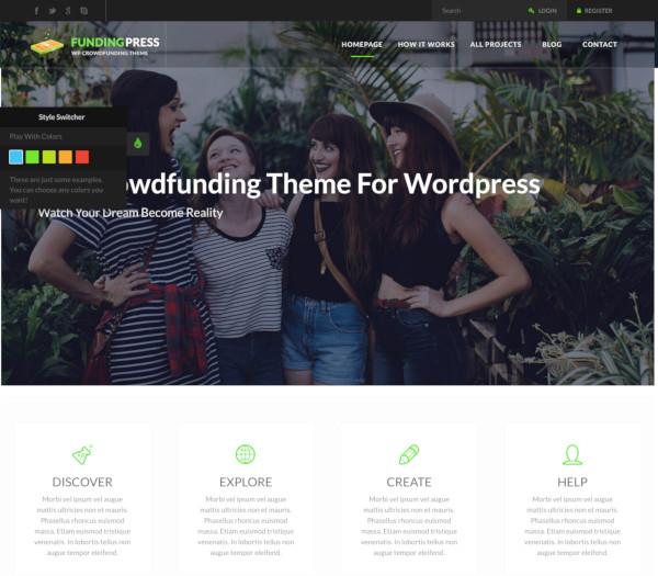 fundingpress crowdfunding wordpress theme