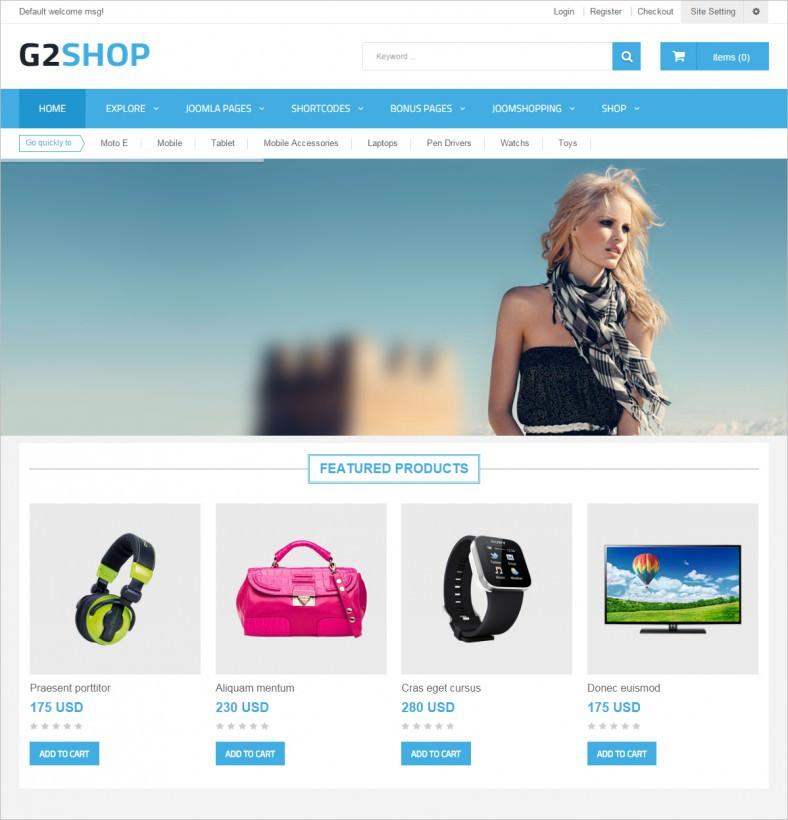 g2shop responsive ecommerce joomla template 788x820