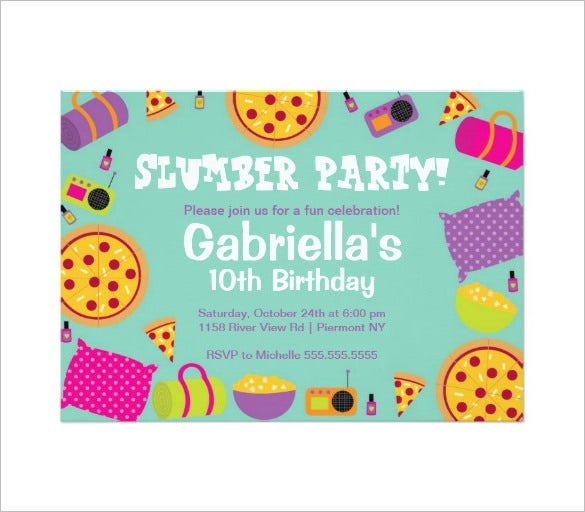 Party Invitation Template gangcraftnet – Sleepover Party Invitations Templates