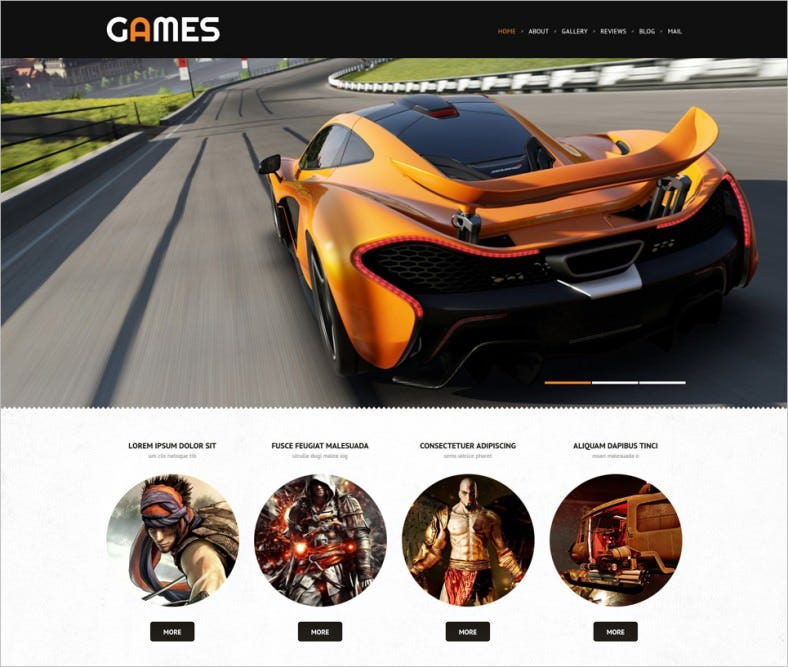 game portal responsive wordpress theme 788x667