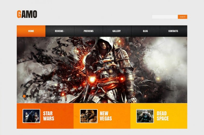 game portal responsive wordpress theme1 788x524