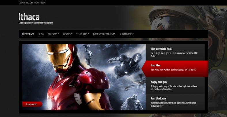 Gaming Reviews WordPress Theme