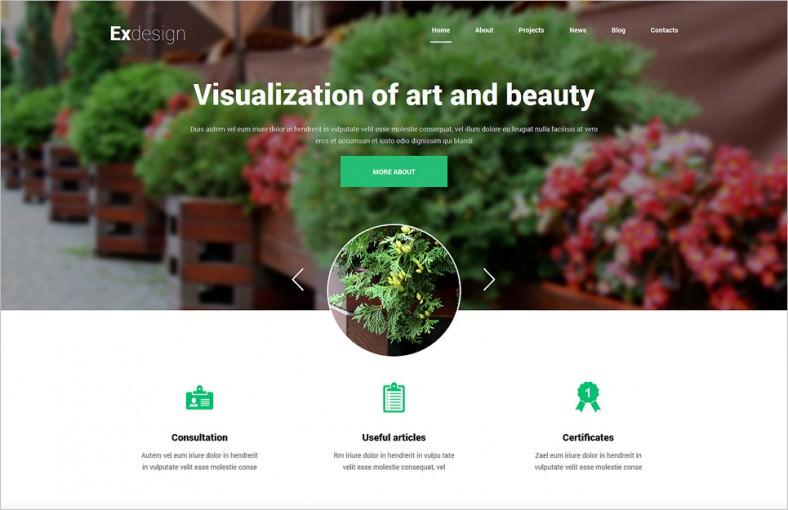 garden design responsive joomla template 788x510