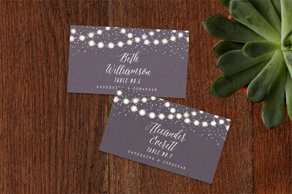 25 Wedding Place Card Templates Free Premium Templates