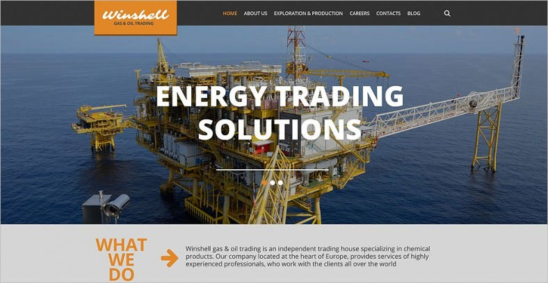 gas and oil trading wordpress theme 788x408