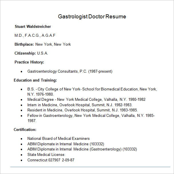 Physician Resume Samples | Resume Cv Cover Letter