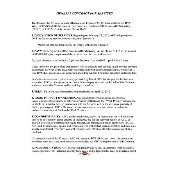 Service contract templates 14 free word pdf documents for Computer repair service agreement template