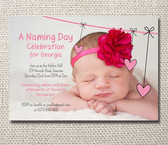 Georgia Naming Ceremony Invitation Template