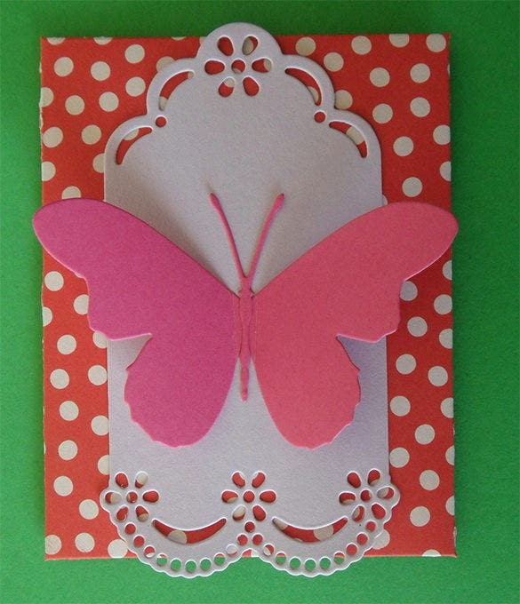 gift shapes paper craft butterfly template